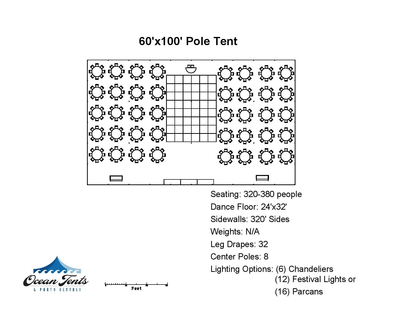 60u0027x120u2032 Pole Tent  sc 1 st  Ocean Tents & 60u0027x120u0027 Pole Tent - Ocean Tents