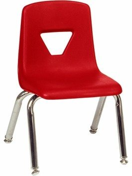 Beau Childrenu0027s Stackable Red Chair