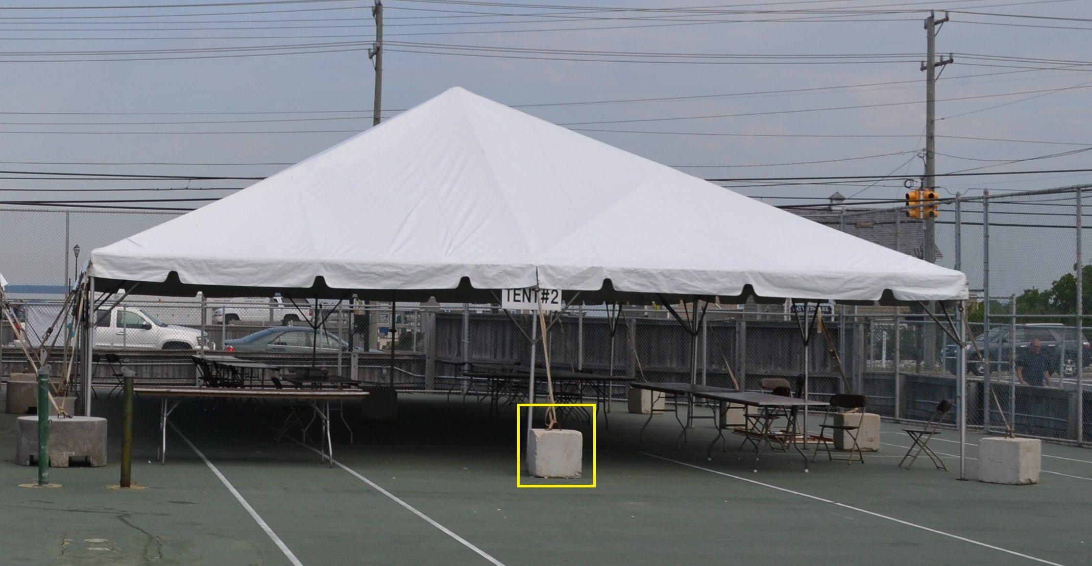 Cement Weights Ocean Tents