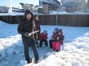 Friends of the Family event: ice fishing