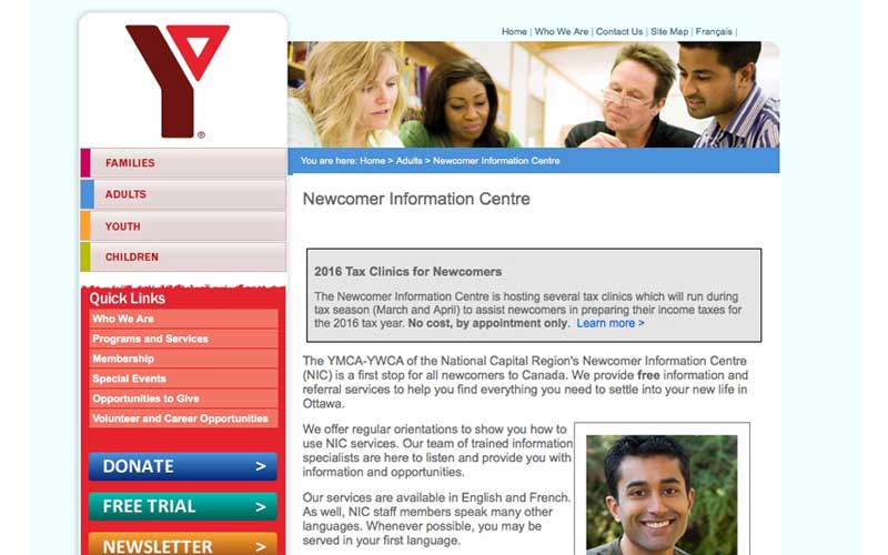 YMCA | Newcomer Information Center