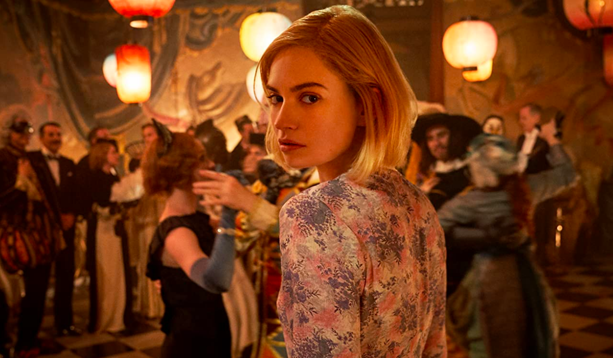 Lily James, Rebecca, style
