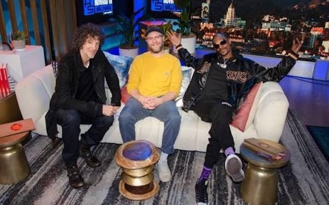 Howard Stern with Seth Rogan and Snoop Dog