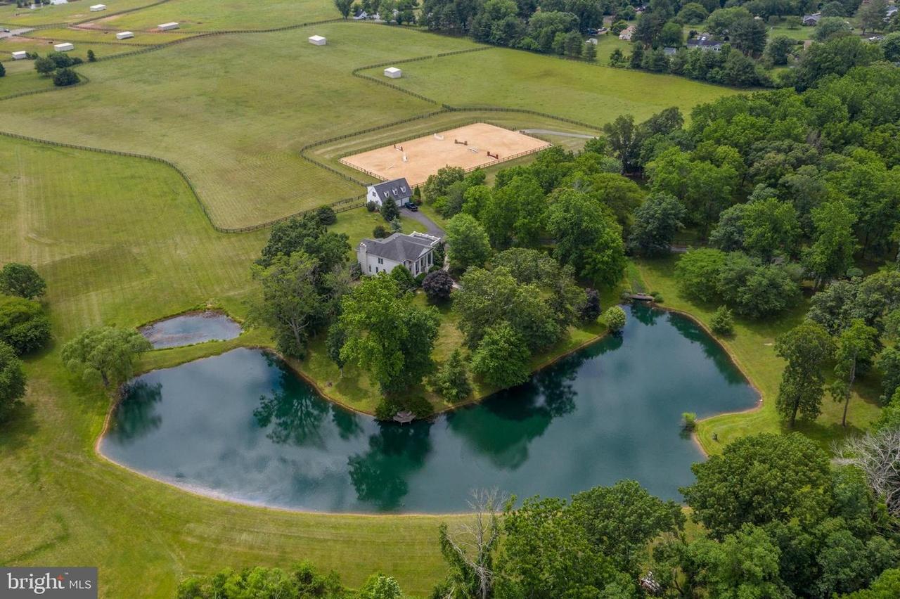 aerial view, farm