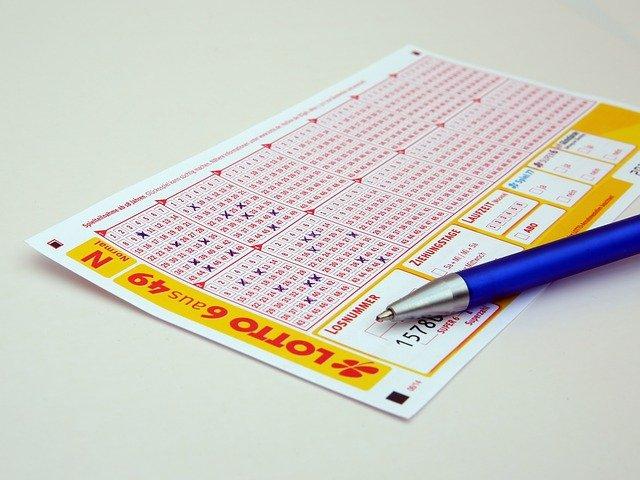 Lotto order ticket