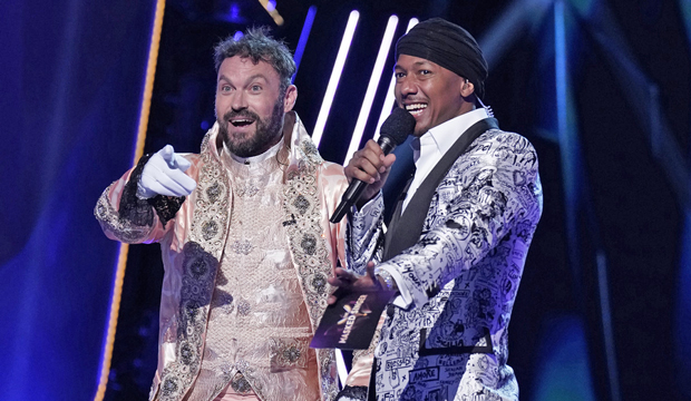 Brian Austin Green and Nick Cannon on the Masked Singer