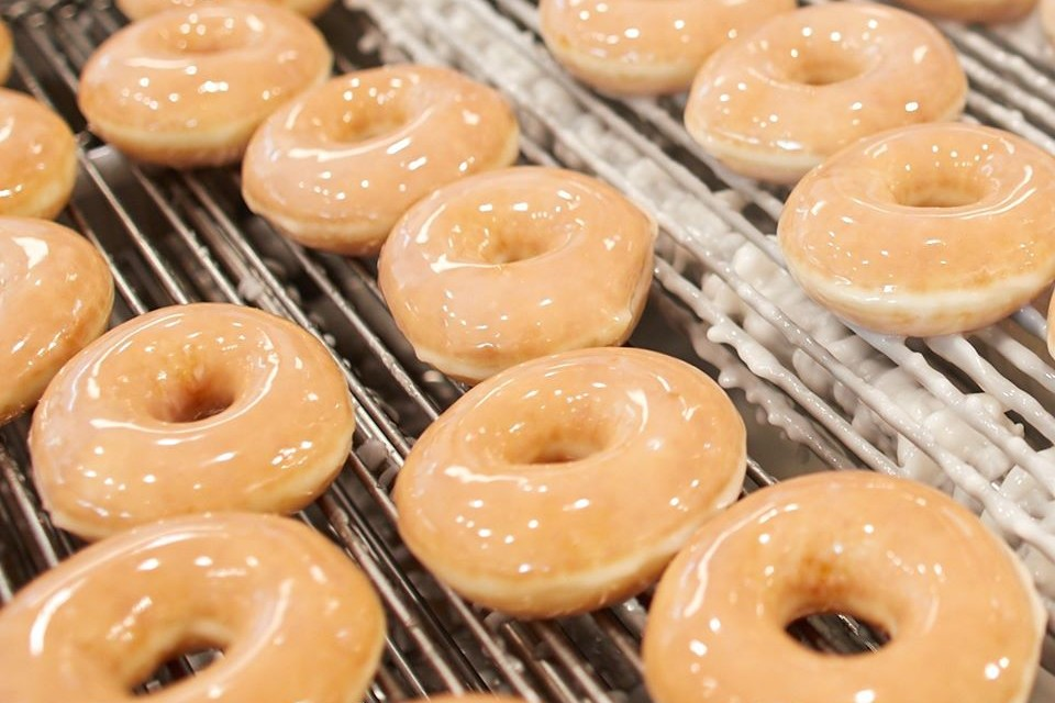 glazed doughnuts, Krispy Kreme