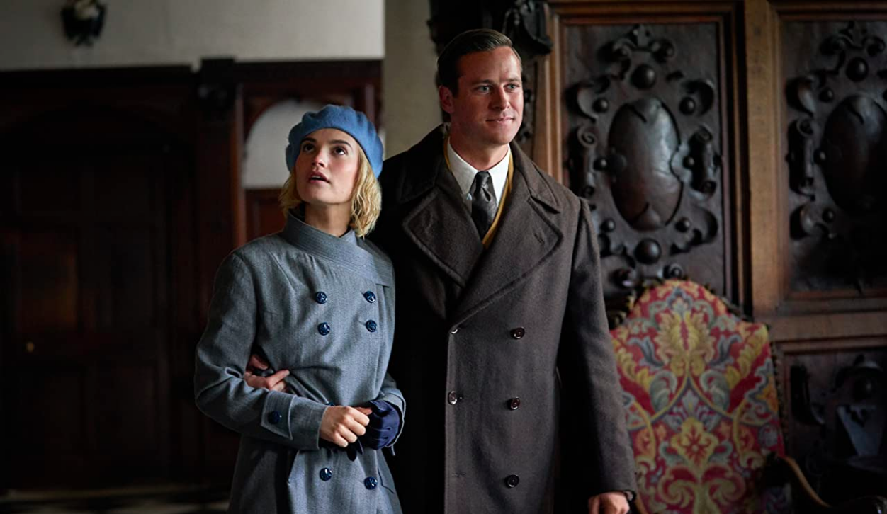 Lily James, Armie Hammer, Rebecca