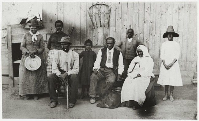Harriet Tubman with family members