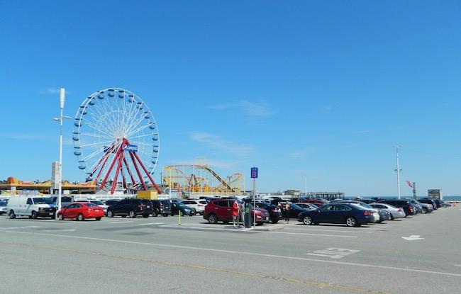 Parking lot at the Boardwalk in Ocean City