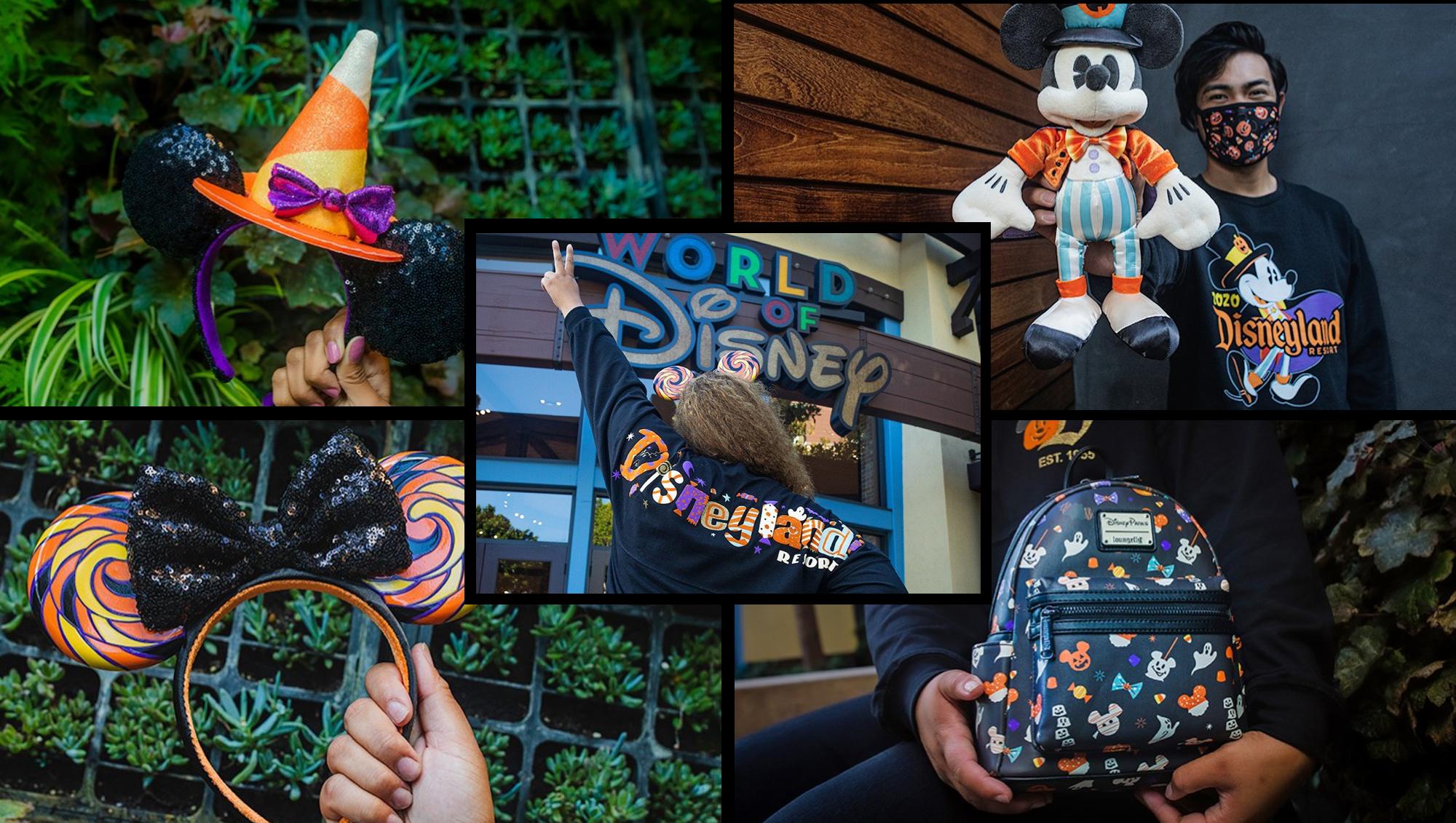 Disney Halloween headband, shirts, and Mickey plush