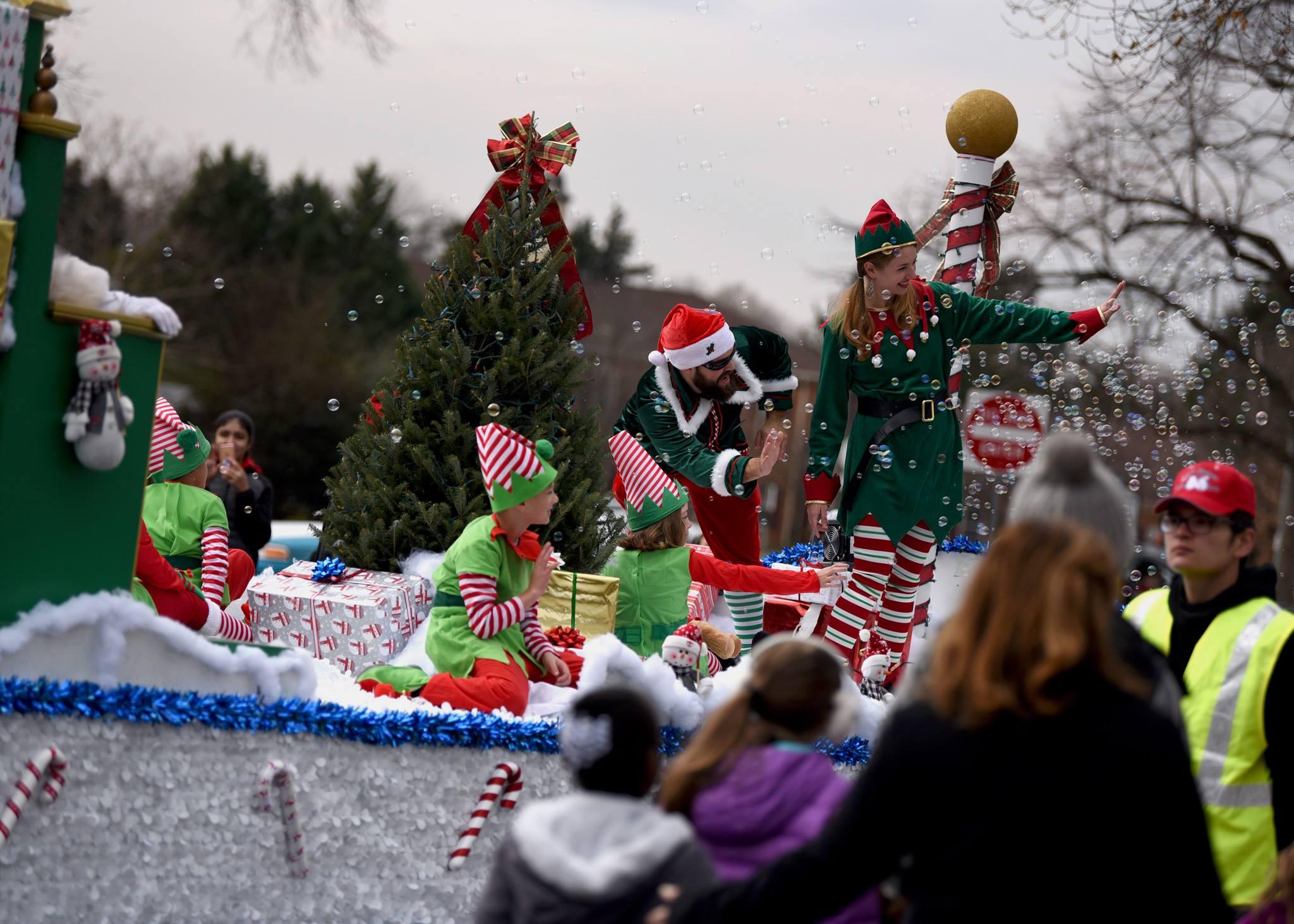 Santa's elves at christmas parade