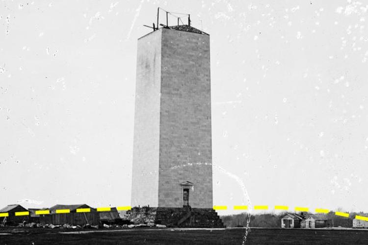 base of the Washington Monument