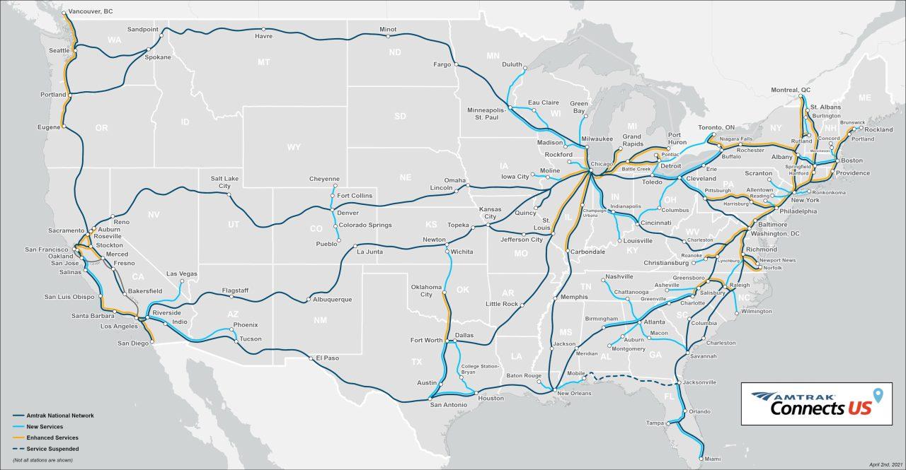 Amtrak Map for Colorado