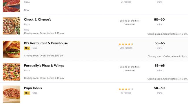 Delivery app screenshot