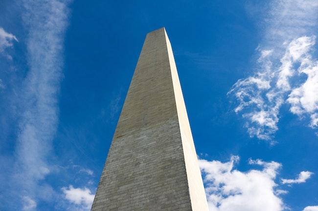 Washington Monument top down