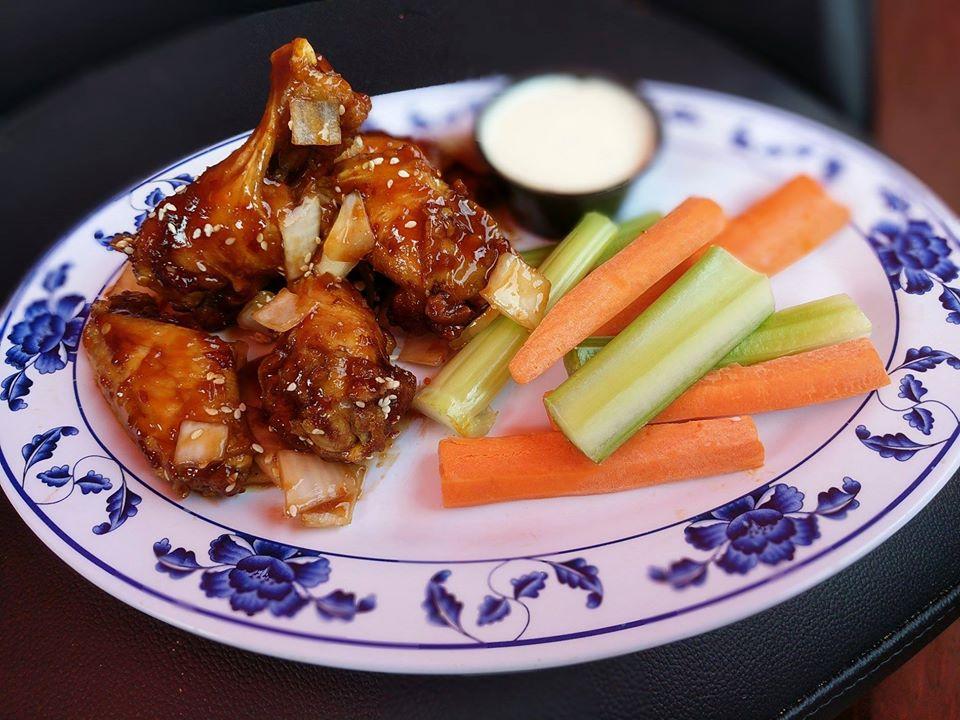 asian chicken wings at piper inn