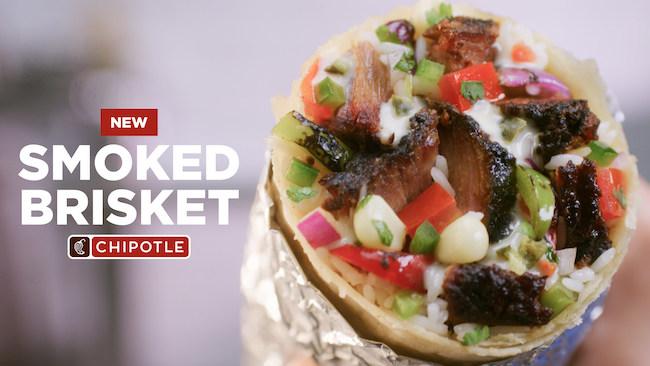 Chipotle brisket burrito