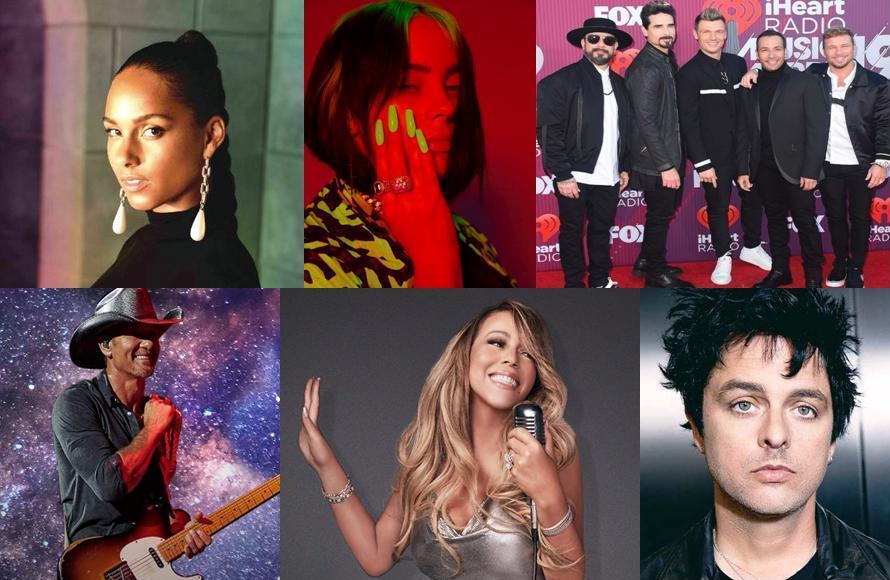Elton John Hosts iHeart Living Room Concert for America March 2020 Alicia Keys The Backstreet Boys Billie Eilish Billie Joe Armstrong Mariah Carey Tim McGraw