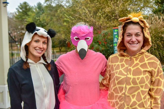 people in animal costumes at the maryland zoo