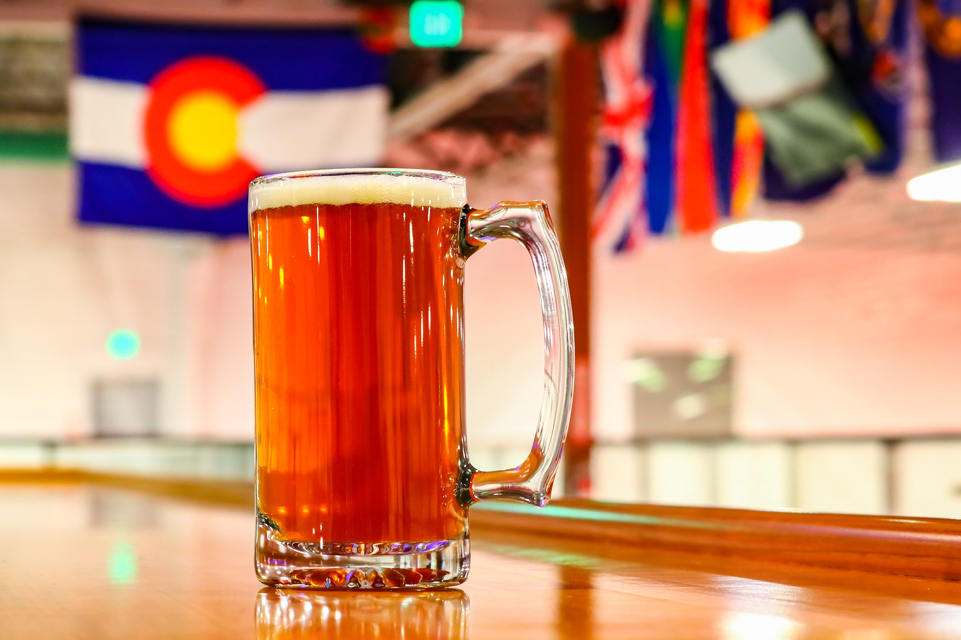 Beer with Colorado flag