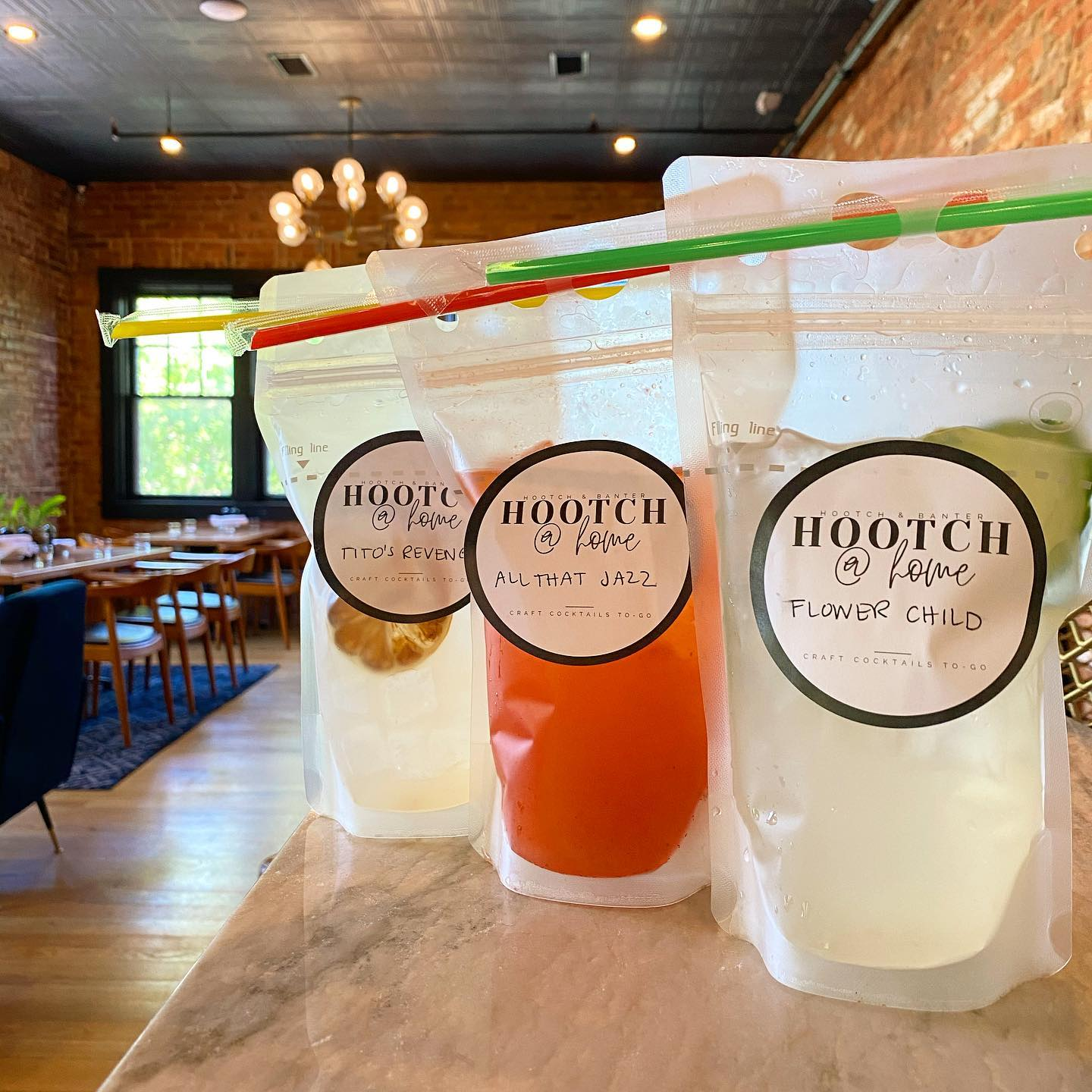 Hooch and Banter cocktail pouches
