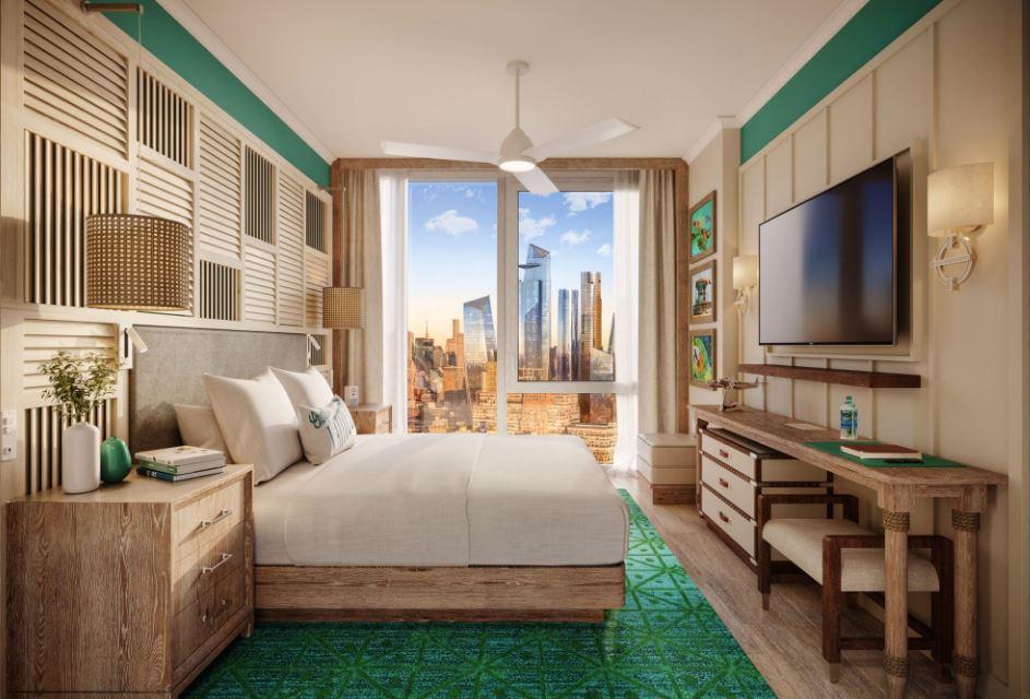 island-style hotel room