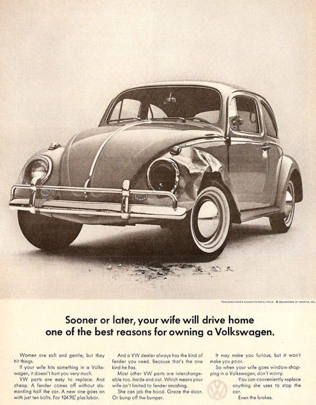 vintage volkswagen ad