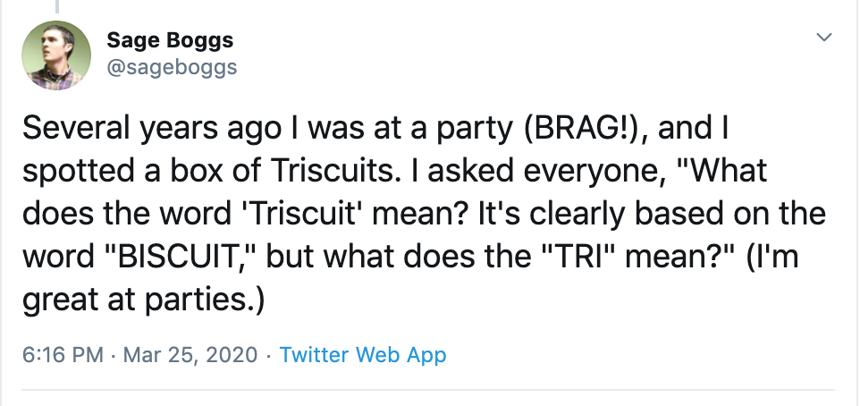 Triscuit tweet
