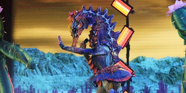 Seahorse costume singing