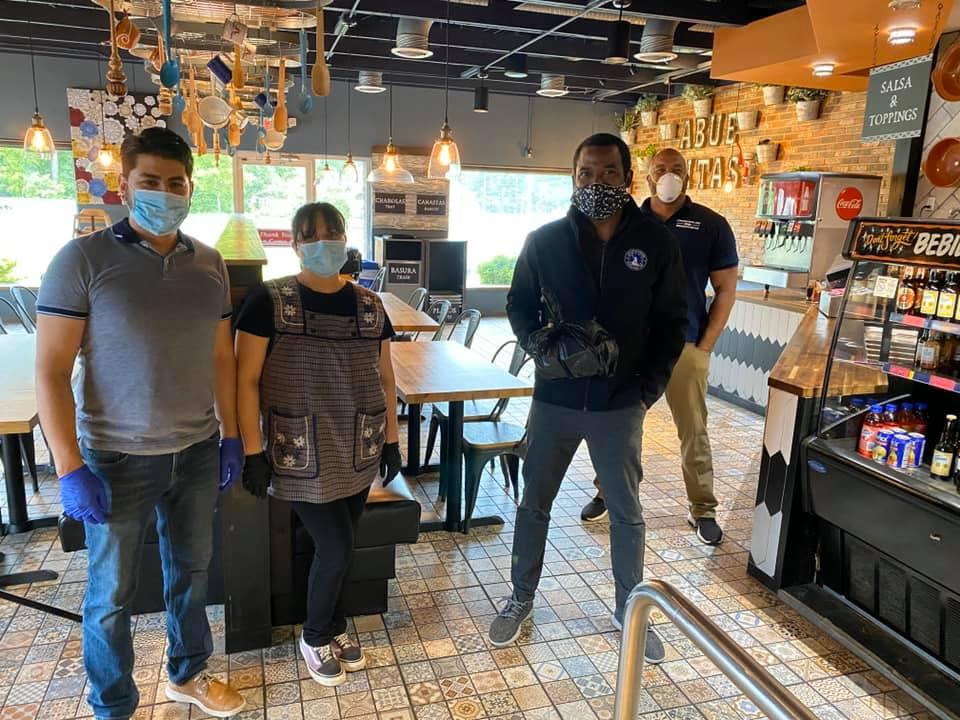 restaurant, face masks