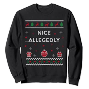 sweater allegedly