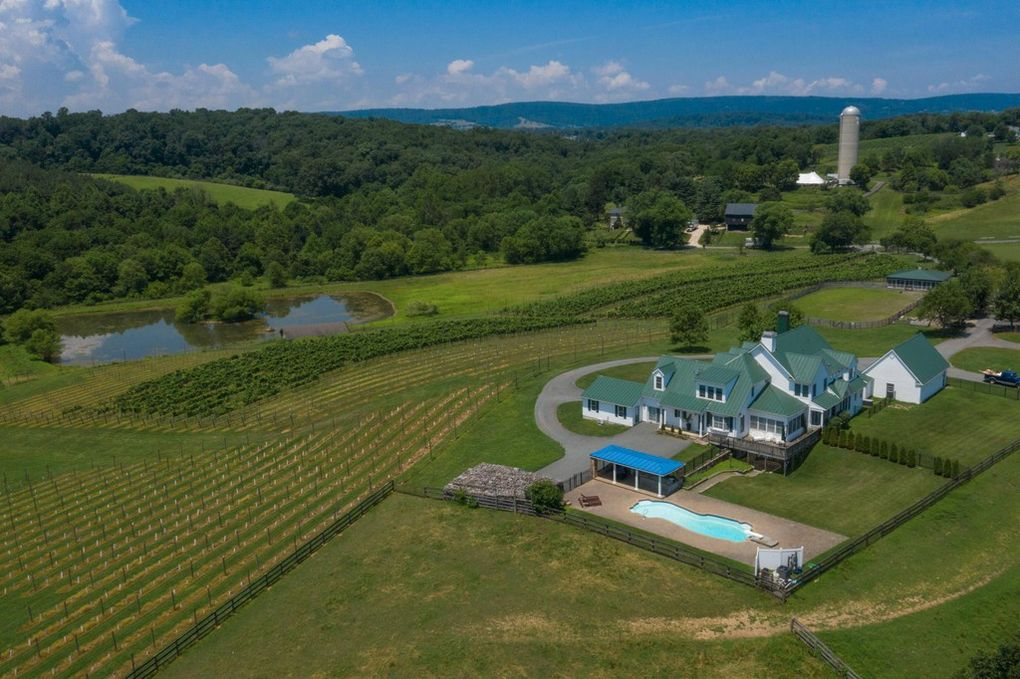 winery, aerial view