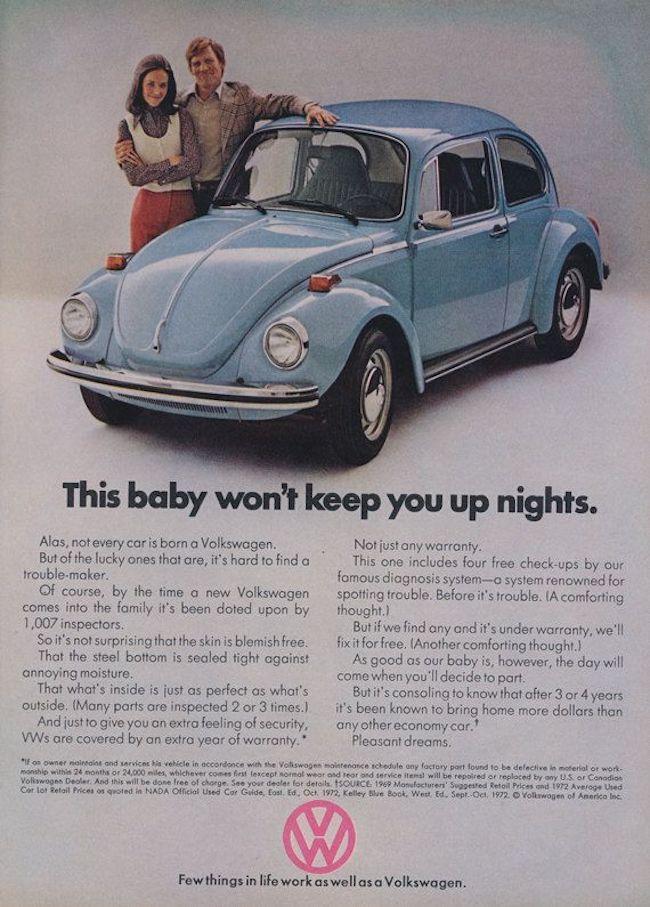 volkswagen beetle vintage ad