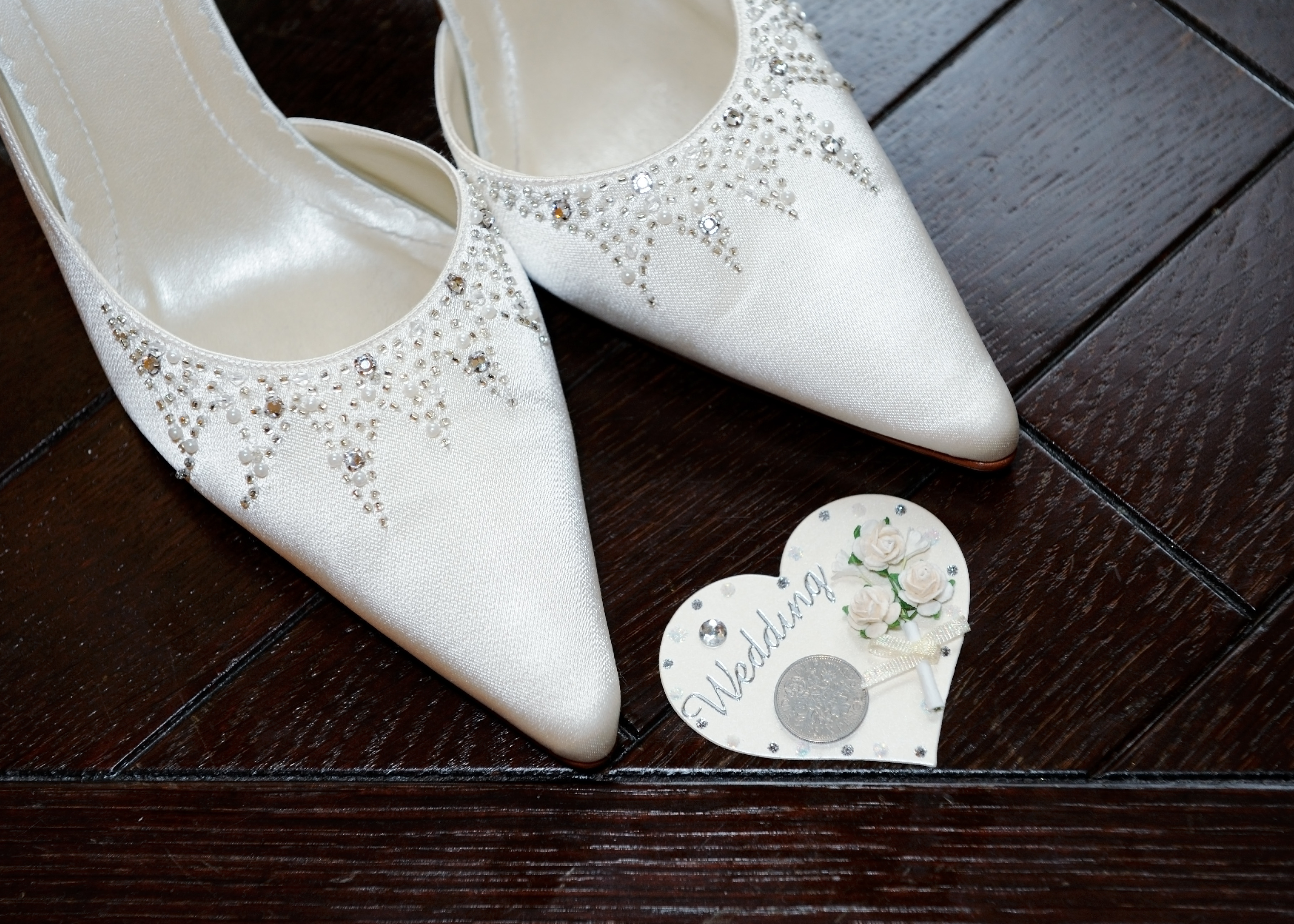 Coin for wedding shoes