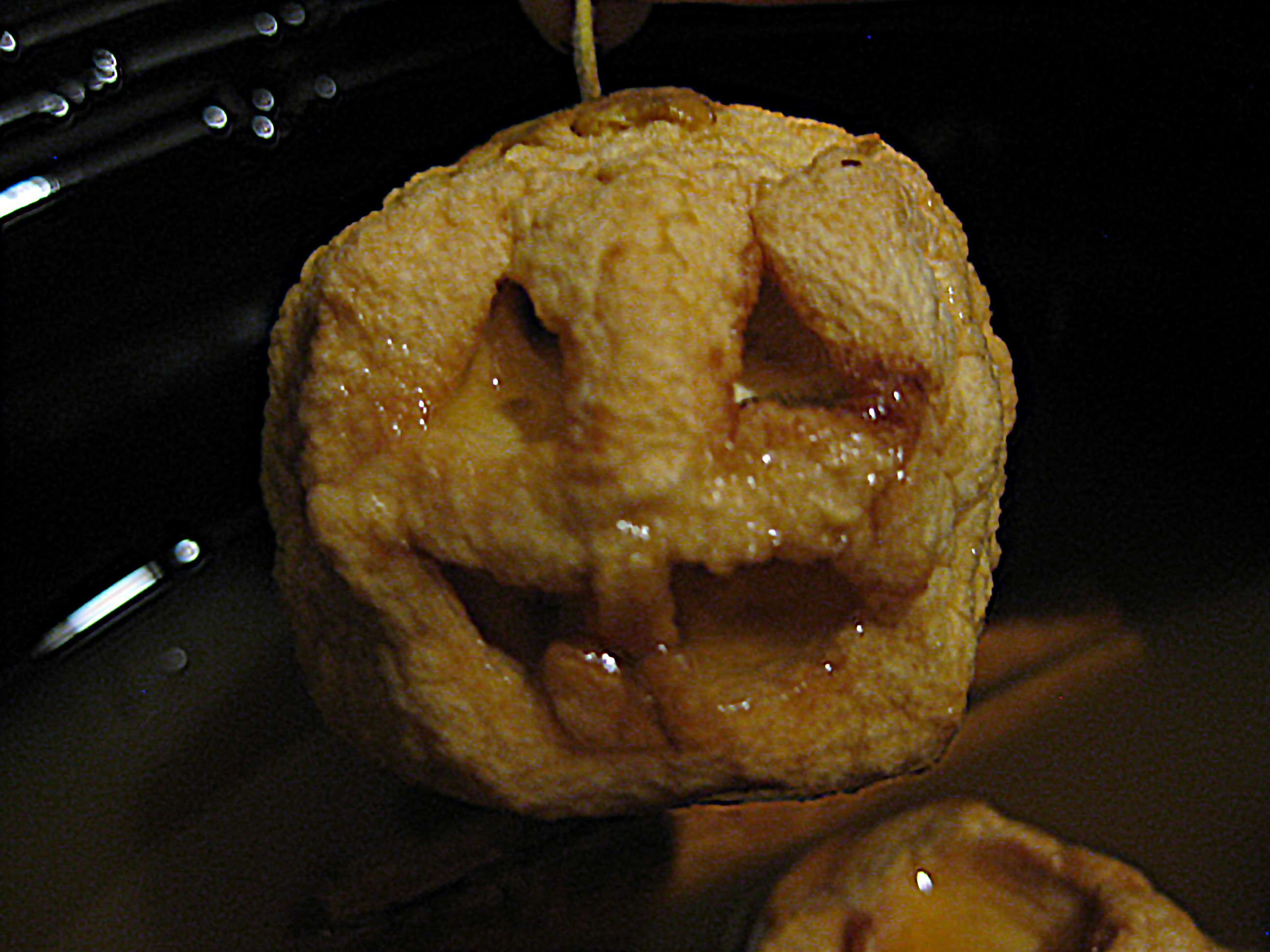 carved shrunken apple