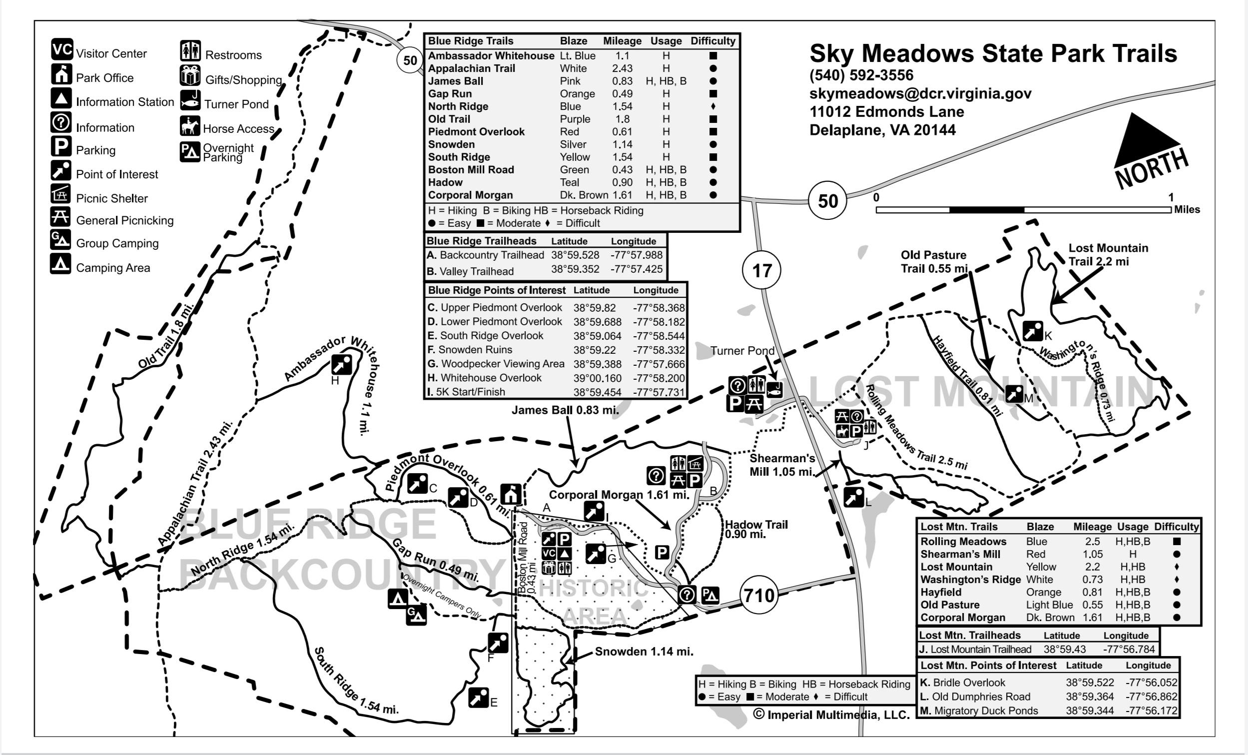 Sky Meadows State Park Trail Guide