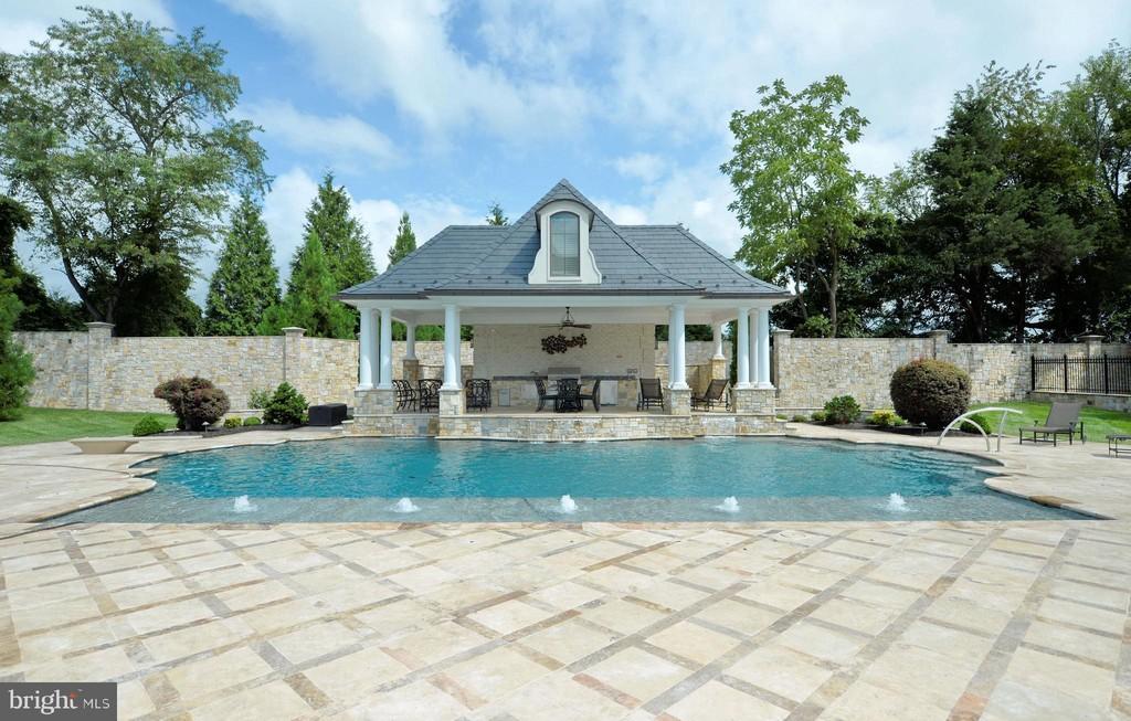 pool, mansion