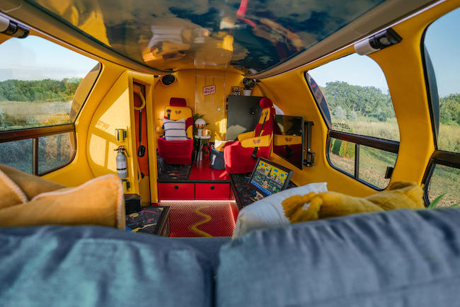Wienermobile interior