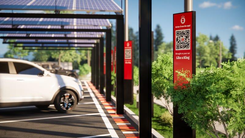 Solar-Powered Dining Spot