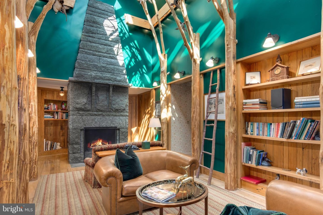 fireplace, lounge