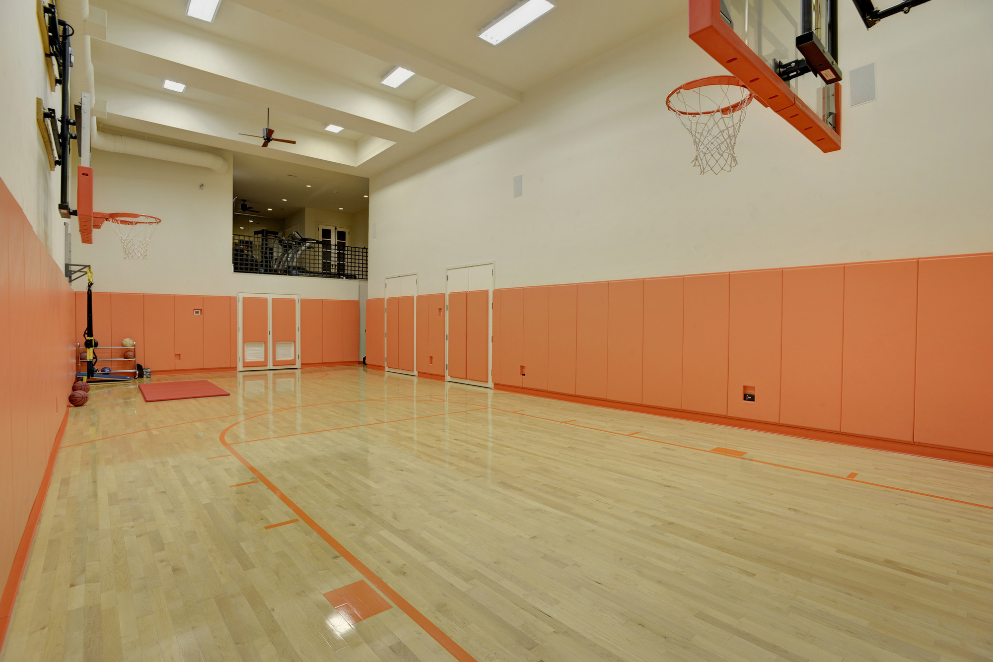 Sports court home gym