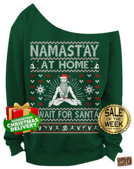 sweater meditation pose