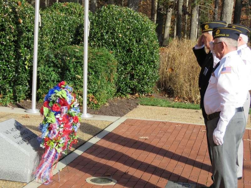 Veterans in salute