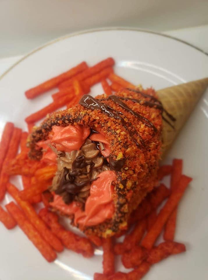 cheetos cheesecake cone