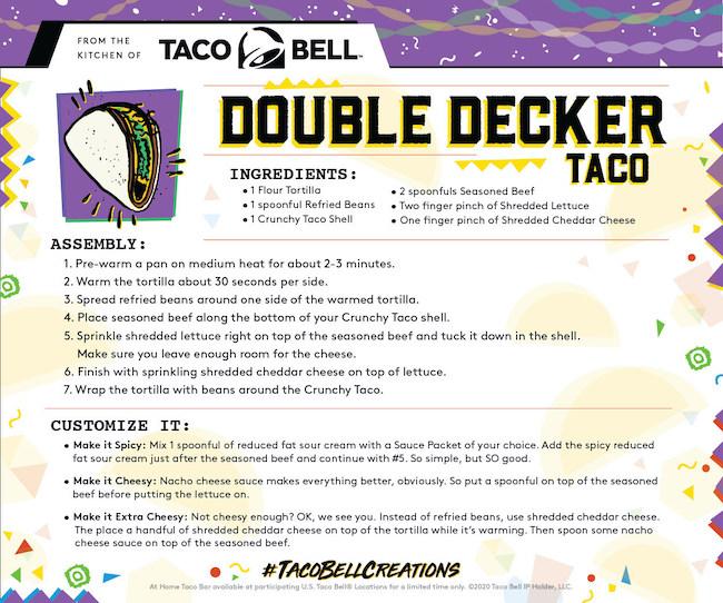 Taco Bell Double Decker Taco recipe