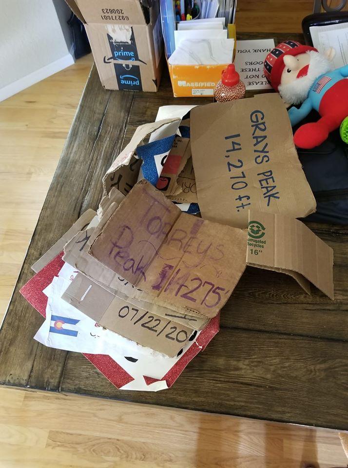 trash cardboard signs
