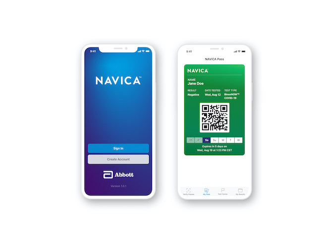 Abbot BinaxNow NAVICA app
