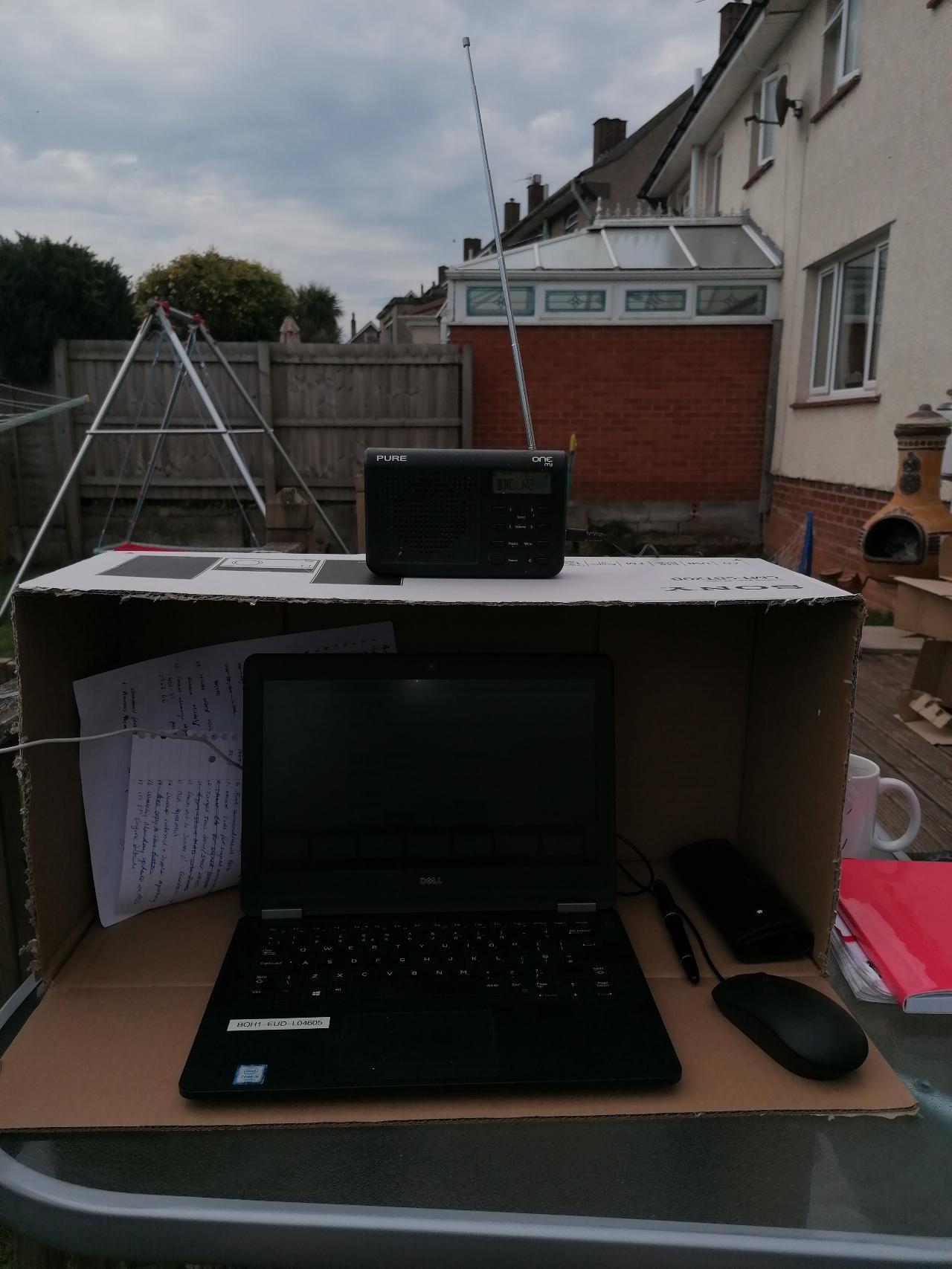 computer outside