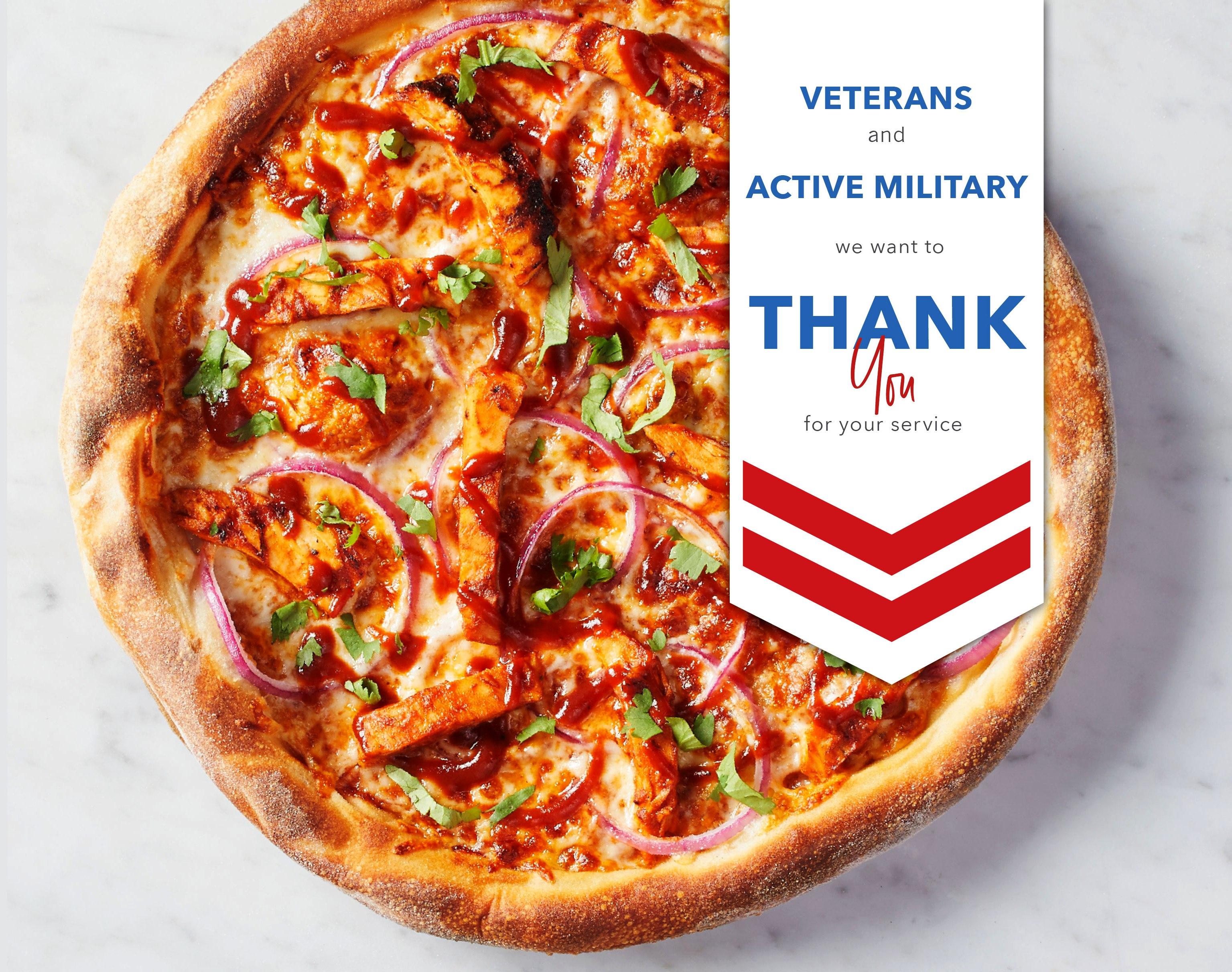 California Pizza Kitchen Veterans Day Menu 2019
